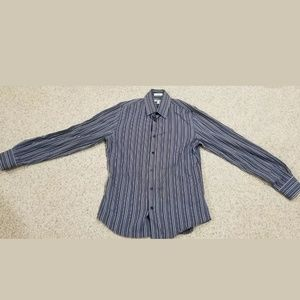 EXPRESS Striped Dress Fitted Shirt Sz S 14-141/2